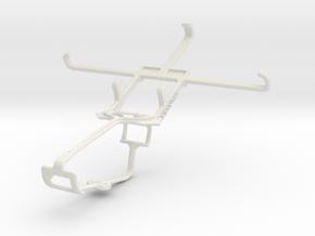 Controller mount for Xbox One & Lava Iris Pro 30 in White Natural Versatile Plastic