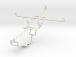 Controller mount for Xbox One & Lava Iris Pro 20 in White Natural Versatile Plastic