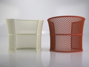 Wired Cuff - Large version in White Natural Versatile Plastic