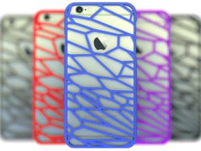 Fracture case for iPhone 6 in Blue Processed Versatile Plastic
