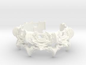 Intestines of Complex Numbers - Bracelet II in White Processed Versatile Plastic