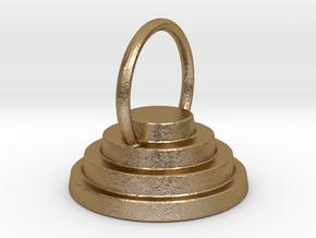 Devo Hat 15mm Earring / Pendant in Polished Gold Steel