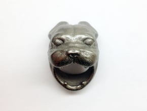French Bulldog Ring Size 7 in Polished Bronzed Silver Steel