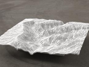 6'' Waimea Canyon Terrain, Hawaii, USA in White Natural Versatile Plastic