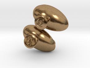 Fetus Cufflinks  in Natural Brass