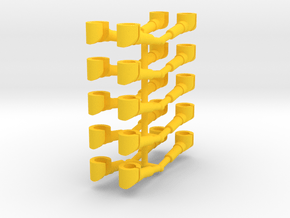 10 pairs customized hands for mini-figures.  in Yellow Processed Versatile Plastic