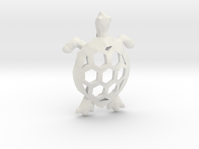 Cosmic Turtle Pendant in White Natural Versatile Plastic