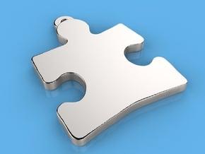 Autism Awareness Pendant .75 in Black Natural Versatile Plastic