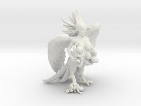 Birdwoman 3'' in White Natural Versatile Plastic