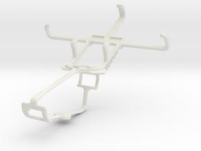Controller mount for Xbox One & Lava Iris 352 Flai in White Natural Versatile Plastic