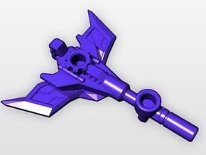 "CW Blackjack Upgrade ""Gun-Axe"" in White Natural Versatile Plastic"