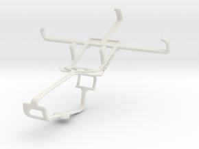 Controller mount for Xbox One & Lava Iris 400Q in White Natural Versatile Plastic
