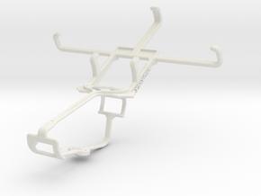 Controller mount for Xbox One & Lava Iris 404 Flai in White Natural Versatile Plastic