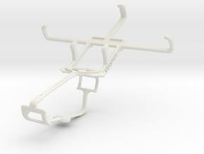 Controller mount for Xbox One & Lava Iris Win1 in White Natural Versatile Plastic