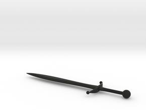 Sword 020 B in Black Natural Versatile Plastic