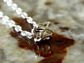 XO Charm in Polished Silver