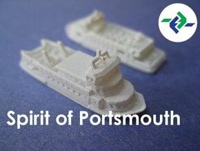 Gosport Ferries (1:1200) in Smooth Fine Detail Plastic: 1:1200