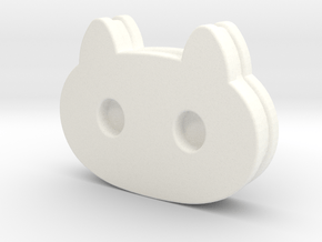 Cookie Cat Necklace/Pendant (Steven Universe) in White Processed Versatile Plastic