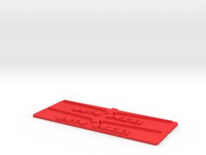 Gambalunga Badges - Both (no steel) in Red Processed Versatile Plastic