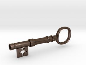 221b Baker Street Front Door Key - Sherlock in Polished Bronze Steel: Large