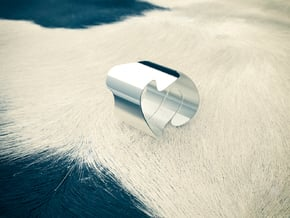 The Cow (ø internal 19,4mm) in Polished Silver