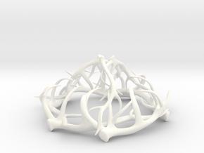 1:12 Antler Chandelier 2 in White Processed Versatile Plastic