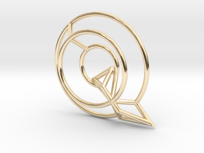 Q Pendant in 14k Gold Plated Brass