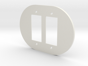 plodes® 2 Gang Decora Outlet Wall Plate in White Natural Versatile Plastic