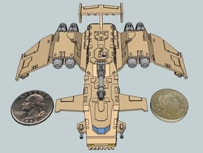 6mm ThunderSquak Gunship in White Natural Versatile Plastic