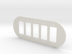plodes® 5 Gang Decora Outlet Wall Plate in White Natural Versatile Plastic