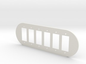 plodes® 6 Gang Decora Outlet Wall Plate in White Natural Versatile Plastic