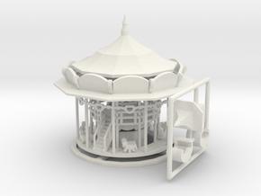 Doppelstock-Karussell - Antrieb 1:220 (Z scale) in White Natural Versatile Plastic