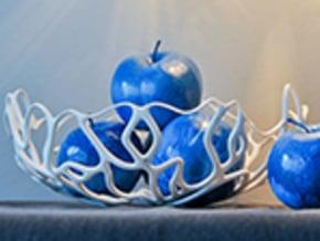 Seaweed Bowl / Fruit Bowl  in White Natural Versatile Plastic