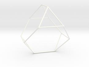 Tatracedron Abscisus Vacuus in White Processed Versatile Plastic
