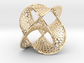 Borromean Rings Seifert Surface (5cm) in 14k Gold Plated Brass
