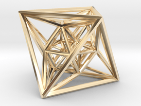 24-Cell in 14k Gold Plated Brass