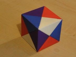 The Impossibox piece set B (red) in Red Processed Versatile Plastic