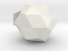 Duodecedron Elevatus Solidus in White Natural Versatile Plastic