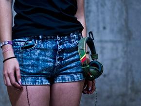 On-Hear Headphones Holster in Black Natural Versatile Plastic