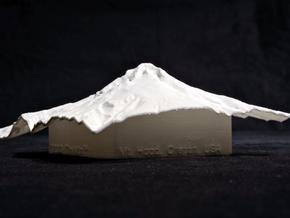 4'' Mt. Hood, Oregon, USA in White Natural Versatile Plastic