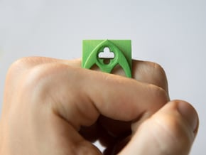 gothic RING in Green Processed Versatile Plastic: 8.5 / 58