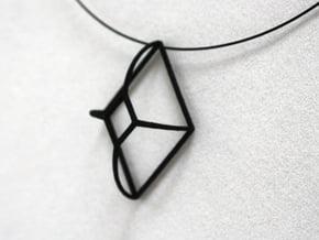Cut-Off Diamond Curved in Black Natural Versatile Plastic