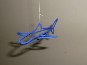 Wire Shark in Blue Processed Versatile Plastic