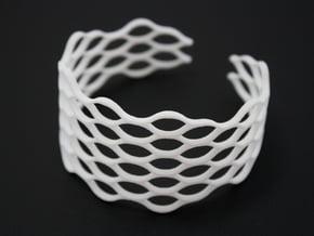 Mesh Bracelet - Large in White Natural Versatile Plastic