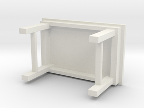1/64 simple work bench in White Natural Versatile Plastic