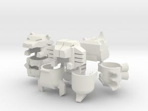 Robohelmet: Victorious Chest Team in White Natural Versatile Plastic