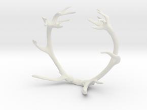 Red Deer Antler Bracelet in White Natural Versatile Plastic