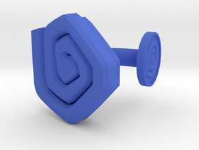 3D Printed Beholden Eyes Cufflinks by bondswell3D in Blue Processed Versatile Plastic