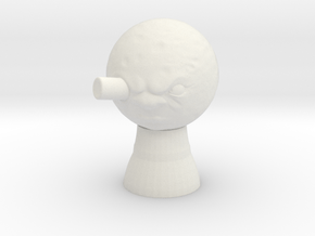 Man on The Moon Statue in White Natural Versatile Plastic