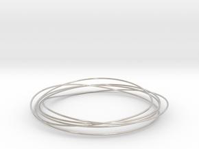 Mobius Wire Bracelet in Rhodium Plated Brass